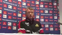Grant McCann on no regrets for Doncaster Rovers in Crystal Palace tie