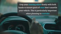 Tips for driving in storms, rain and high wind