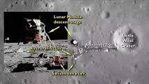 Un aperçu du site d'alunissage d'Apollo 11, recréé grâce à la caméra du Lunar Reconnaisance Orbiter (en anglais) - Gracieuseté de la NASA