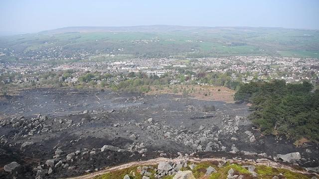 Ilkley Moor fire aftermath