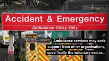 How do the Ambulance Service respond to an emergency