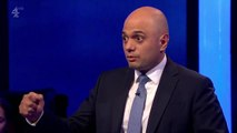 Sajid Javid talks of prejudice he has faced during Tory leadership debate