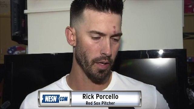 Rick Porcello Monday night Red Sox vs. Blue Jays postgame sound