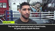 (Subtitled) Amir Khan announces fight with Manny Pacquiao in Riyadh