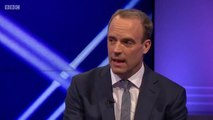 Dominic Raab challenged on Boris Johnson previous comments about Donald Trump