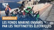 Marseille: les fonds marins envahis par les trottinettes électriques