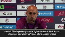 (Subtitled) Zabaleta announces he will leave West Ham at end of next season