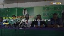 Bénin – politique : le parti FCBE fait le point de la rencontre avec Patrice Talon