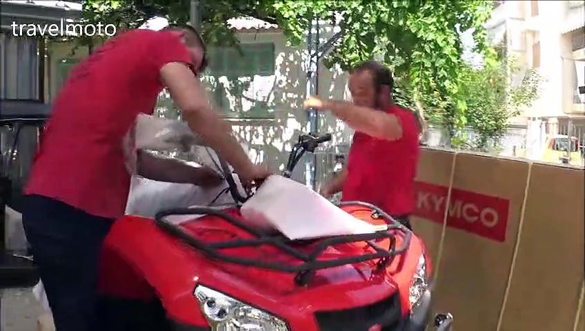 unboxing KYMCO MXU 450i ATV 2019