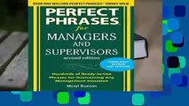 [GIFT IDEAS] Perfect Phrases for Managers and Supervisors, Second Edition (Perfect Phrases Series)