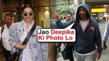 John Abraham Gives LIMELIGHT To Deepika Padukone | Spotted At Mumbai Airport