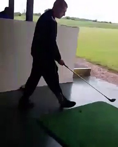 hitting the roof with a golf ball