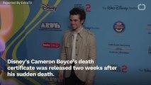 Cameron Boyce's Death Certificate Gets Released