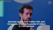 Twitter CEO Jack Dorsey Donates To Tulsi Gabbard
