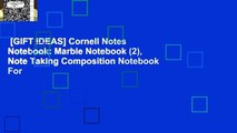 [GIFT IDEAS] Cornell Notes Notebook: Marble Notebook (2), Note Taking Composition Notebook For