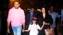 Aaradhya, Aishwarya And Abhishek Spotted At Airport