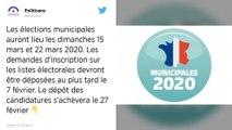 Les élections municipales programmées les 15 et 22 mars 2020