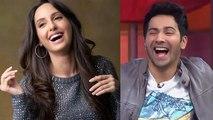 Nora Fatehi challenges Varun Dhawan to do O Saki Saki step | FilmiBeat