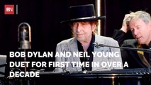 Bob Dylan And Neil Young Perform Together