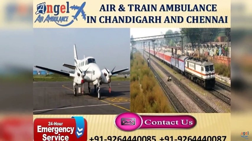 Pick Very Smart Air & Train Ambulance in Chandigarh by Angel