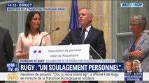 """François de Rugy lors de la passation de pouvoir: """"Nous nous retrouverons pour l'écologie, pour la République, pour la France"""""""
