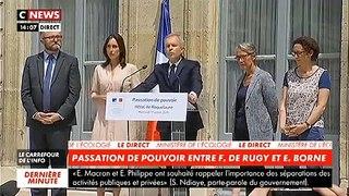 François de Rugy avec sa femme à ses côtés: