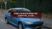 Excès de vitesse : flashé à 156 km/h au volant d'une Peugeot 206 à... 14 ans