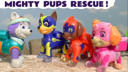 Paw Patrol Mighty Pups Rescue vs Marvel Avengers 4 Endgame Thanos with the Funny Funlings Paw Patrol Cartoon in this Family Friendly Toy Story Full Episode English