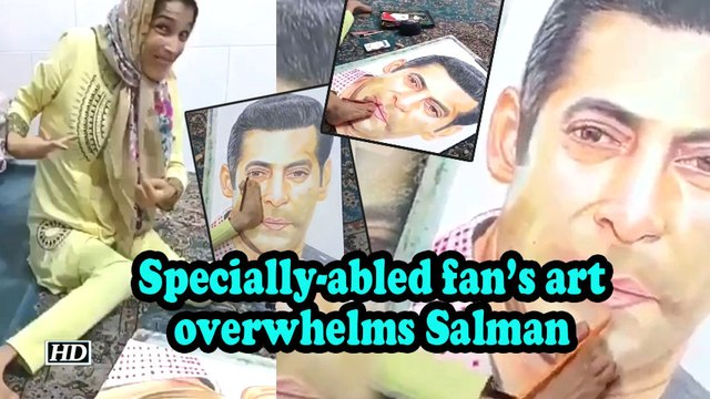 Specially-abled fan's art overwhelms Salman