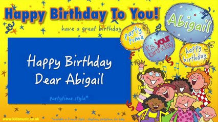 Jump Singers - Happy Birthday Dear Abigail (For Partytime)