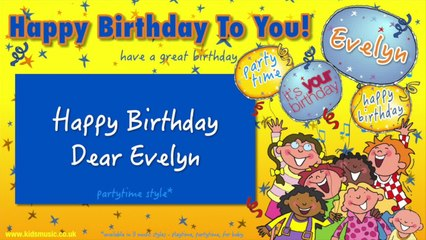 Jump Singers - Happy Birthday Dear Evelyn (For Partytime)