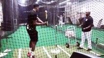 Baseball - NBA MVP Giannis Antetokounmpo tried his hand at baseball