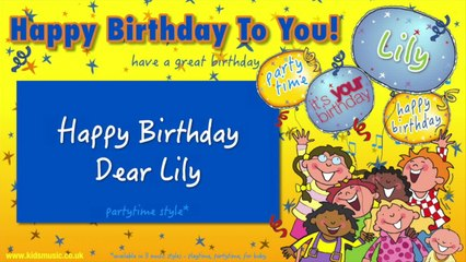 Jump Singers - Happy Birthday Dear Lily (For Partytime)
