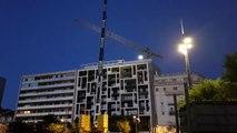 Valence : démontage de la grue de l'Yperion