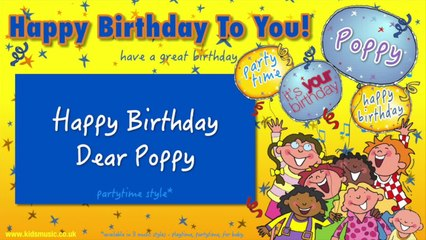 Jump Singers - Happy Birthday Dear Poppy (For Partytime)