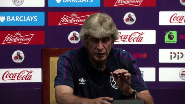Pellegrini on Haller signing following 4-1 defeat to Manchester City in China