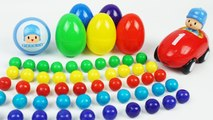 Learn Colors and Numbers 1 to 10, Surprise Eggs Pocoyo Car, Spiderman, Diseny Plane, Pixar Cars,