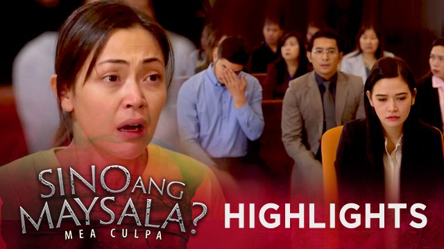 Fina gets emotional after the court reveals the result of the DNA test   Sino Ang Maysala