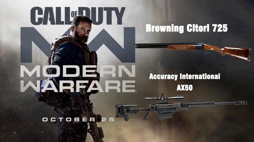 Modern Warfare 2019 MP WEAPONS [BROWNING 725/ ACCURACY INTERNATIONAL AX50]