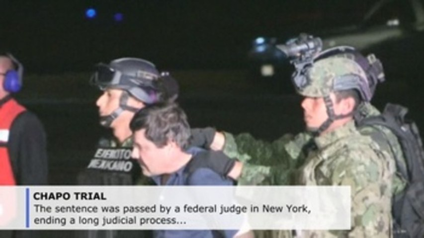 El Chapo sentenced to life for drug trafficking by New York judge