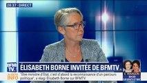 """Affaire Rugy: pour Elisabeth Borne, """"aujourd'hui, rien n'indique que la loi n'a pas été respectée dans son cas"""""""
