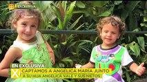 Captamos a Angélica María junto a su hija y sus nietos.
