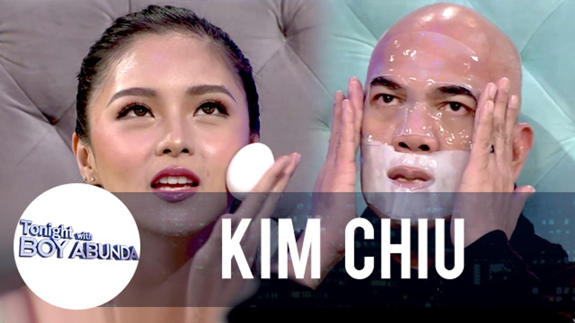 Kim teaches her skincare routine to Tito Boy | TWBA
