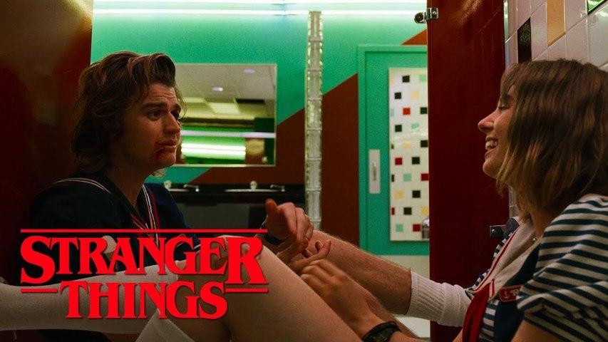 Stranger Things Season 3 - Steve and Robin (2019) Maya Hawke, Joe Keery Netflix Series