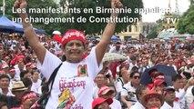 Birmanie: manifestation pour que soit modifiée la Constitution