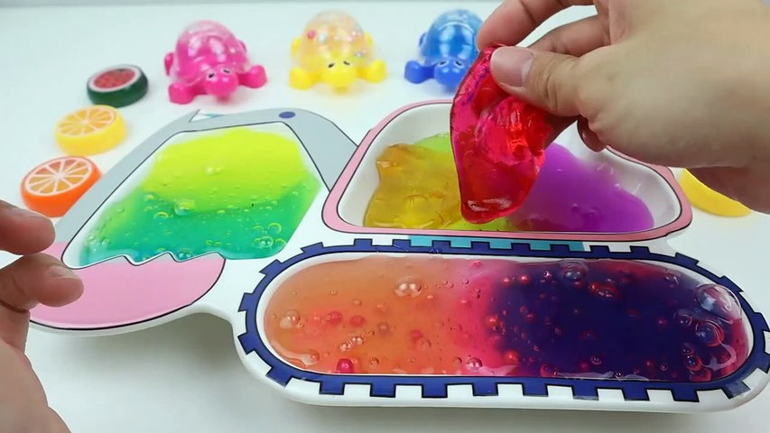 Mixing All My Slime Smoothie | Learn Colors Rainbow Slime Excavator for Kids | If You Happy Song