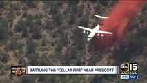 Crews battling Cellar Fire near Prescott