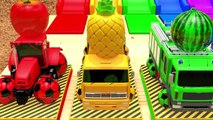 Learn Colors with Street Vehicles VS Excavator Surprise Soccer Ball Pretend Play for Kids
