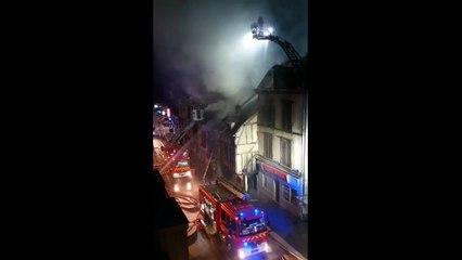 Important incendie rue Kléber à Troyes, jeudi 18 juillet 2019