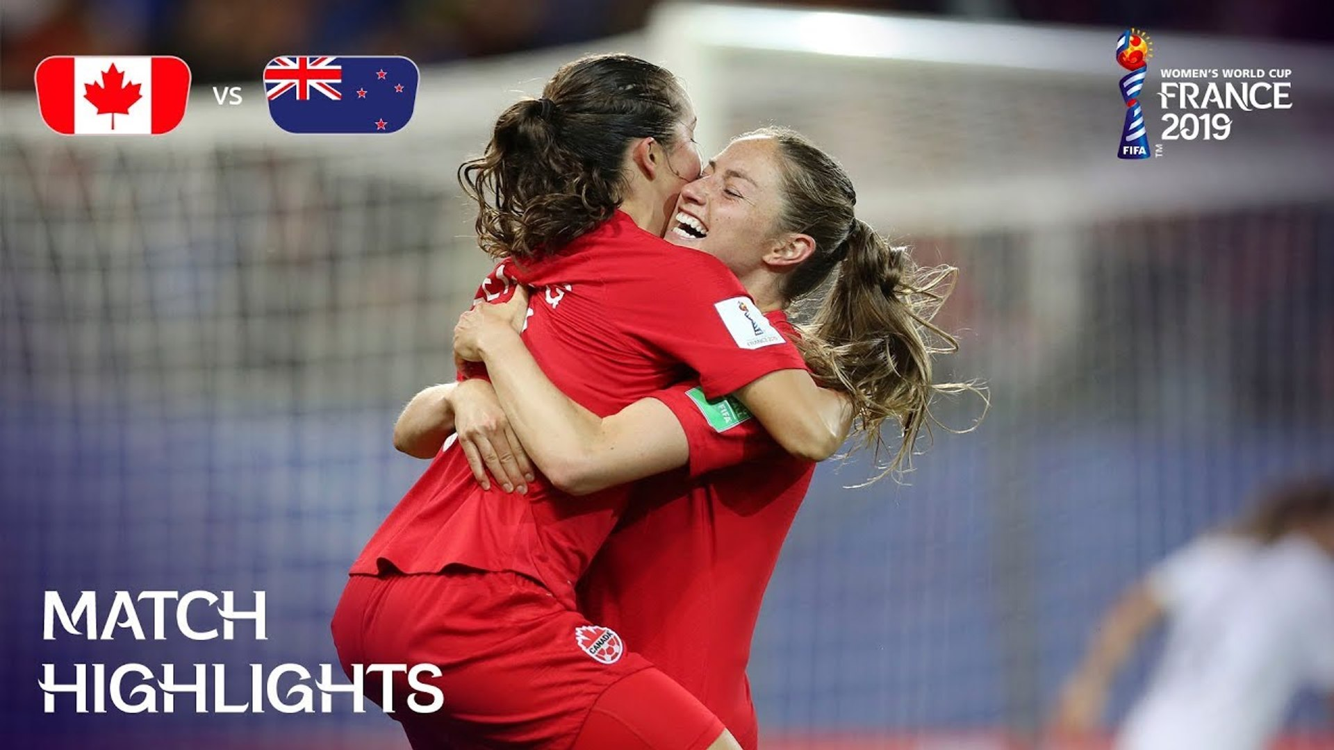 canada v new zealand fifa women s world cup france 2019 video dailymotion